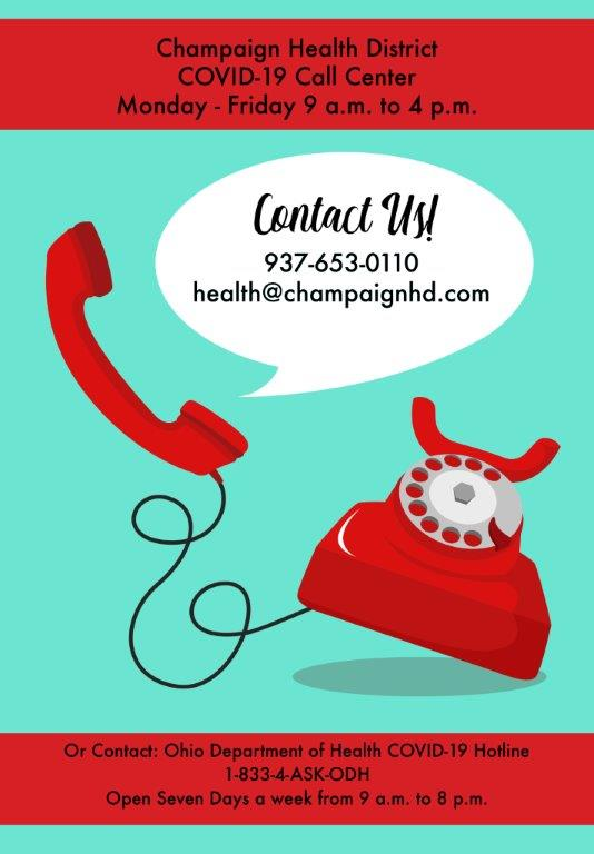 Champaign County Health District COVID-19 Hotline